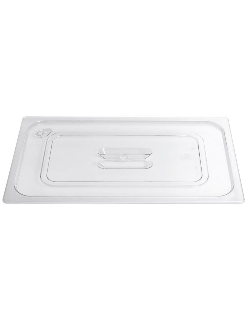 Lid for gastronorm container in polycarbonate
