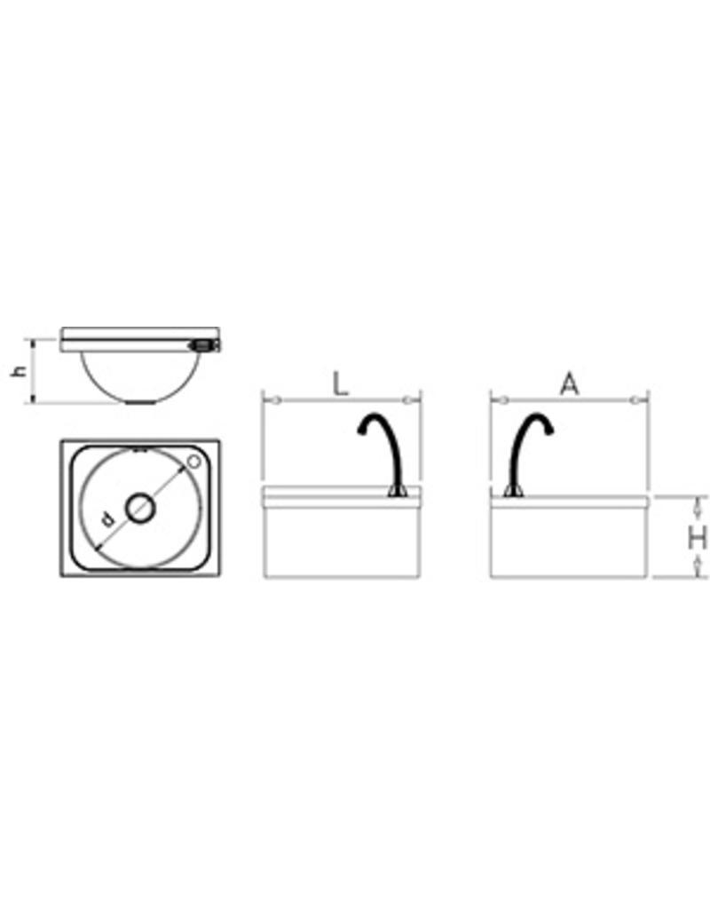 Wasbak met elektronische bediening