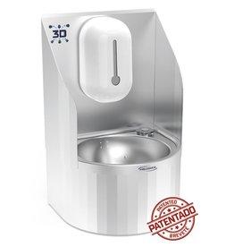 Wall mounted electronic 3D hand washbasin