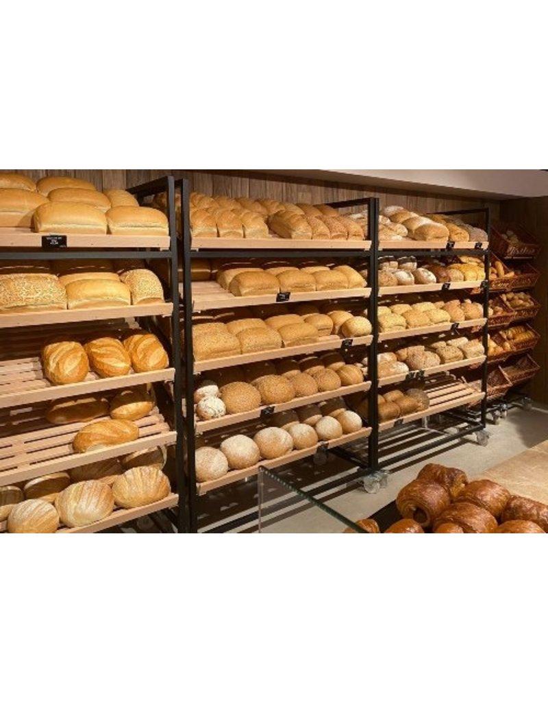 Bread rack painted black
