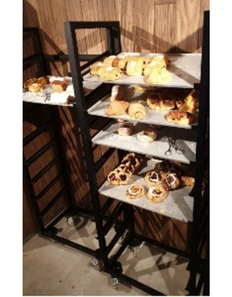 Biscuit rack lacquered black