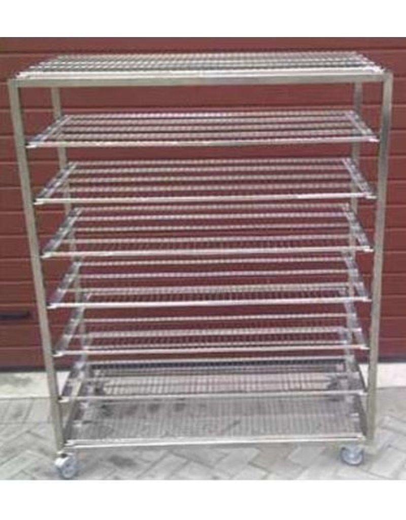 Flat bread cart inox