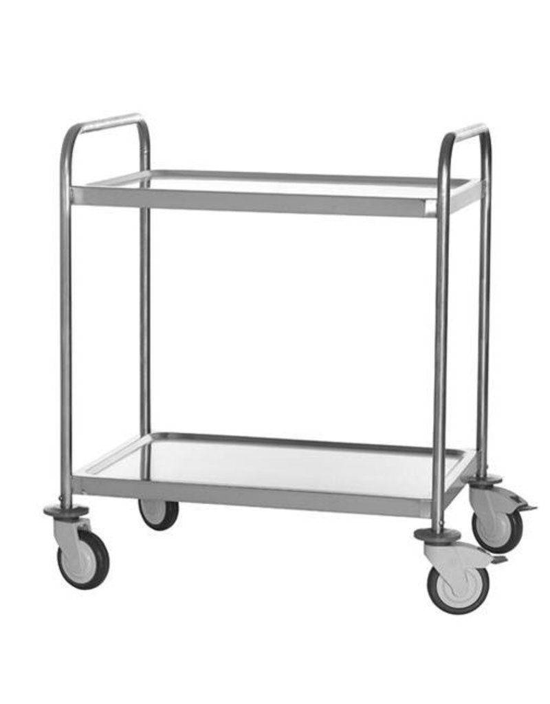 serving trolley large model 2 levels