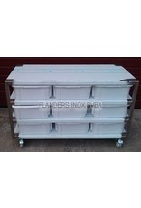 Raw materials station with 9 PVC containers 40L