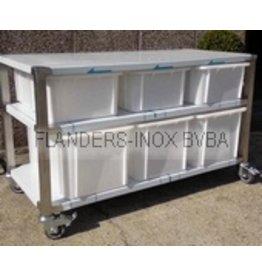 Grondstoffenstation combi 6 40L - 60L