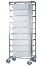 Raw materials tower with 9 bins