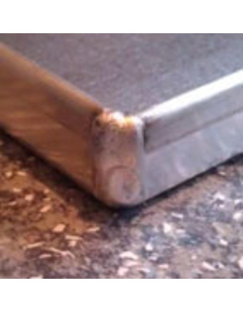 Seabiscuit line Plaat aluminium 400x600mm volle plaat 4x90°