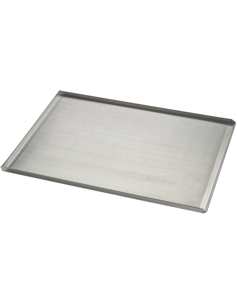 Seabiscuit line Baking tray aluminum 400x600mm 3x90° and pouring edge perfo 3mm