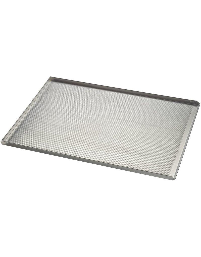 Seabiscuit line Bakplaat aluminium 600x800mm 3x90° en afgietrand perfo 3mm