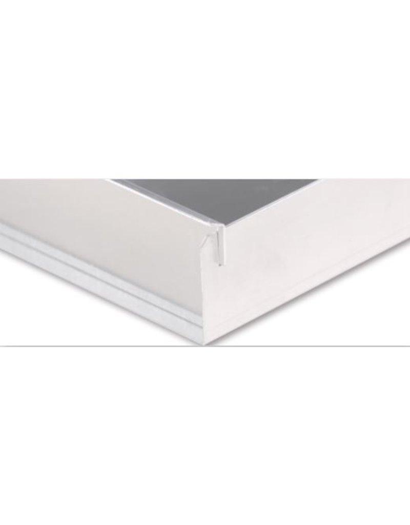 Seabiscuit line Kapselplaat aluminium 400x600mm volle plaat 4x90°