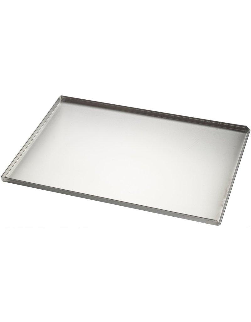 Seabiscuit line Bakplaat aluminium 600x800mm 3x90° en afgietrand volle plaat