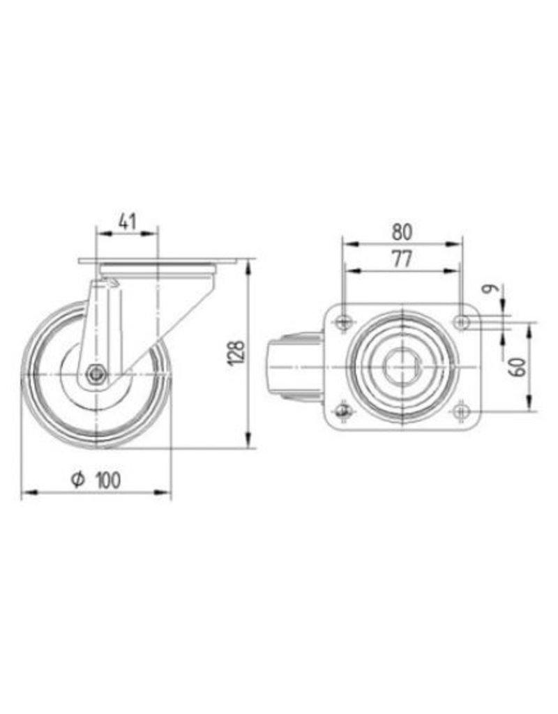 Seabiscuit line Heat resistant wheels for rotor trolleys