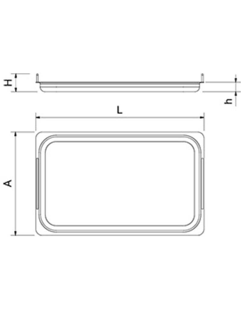 Tray with handles in stainless steel