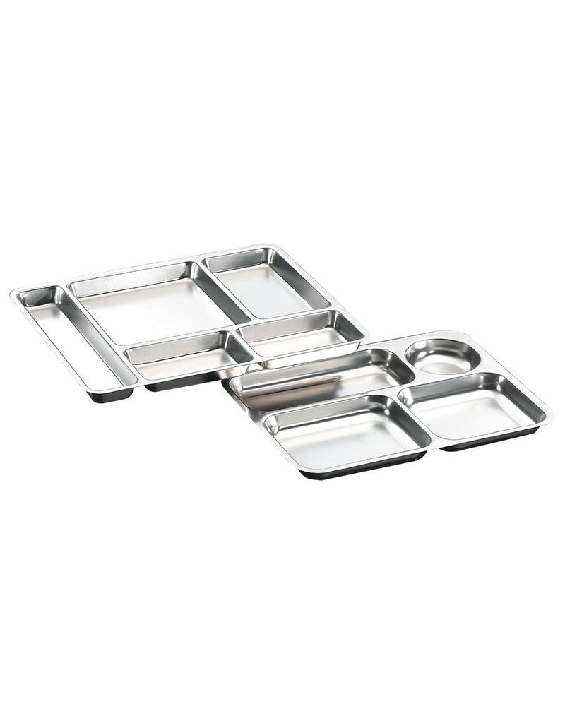 Menu tray in stainless steel