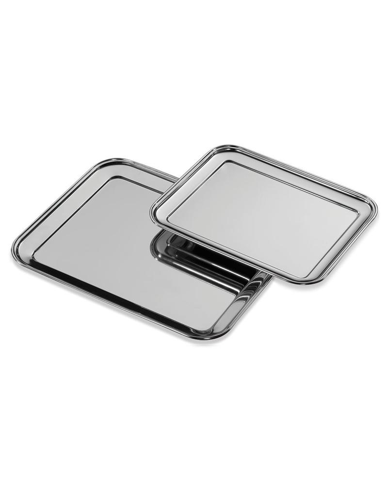 Tray in stainless steel