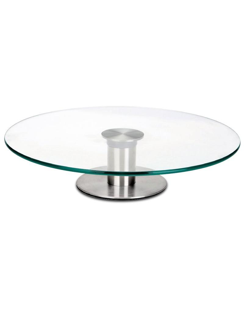 Rotary plate in glass