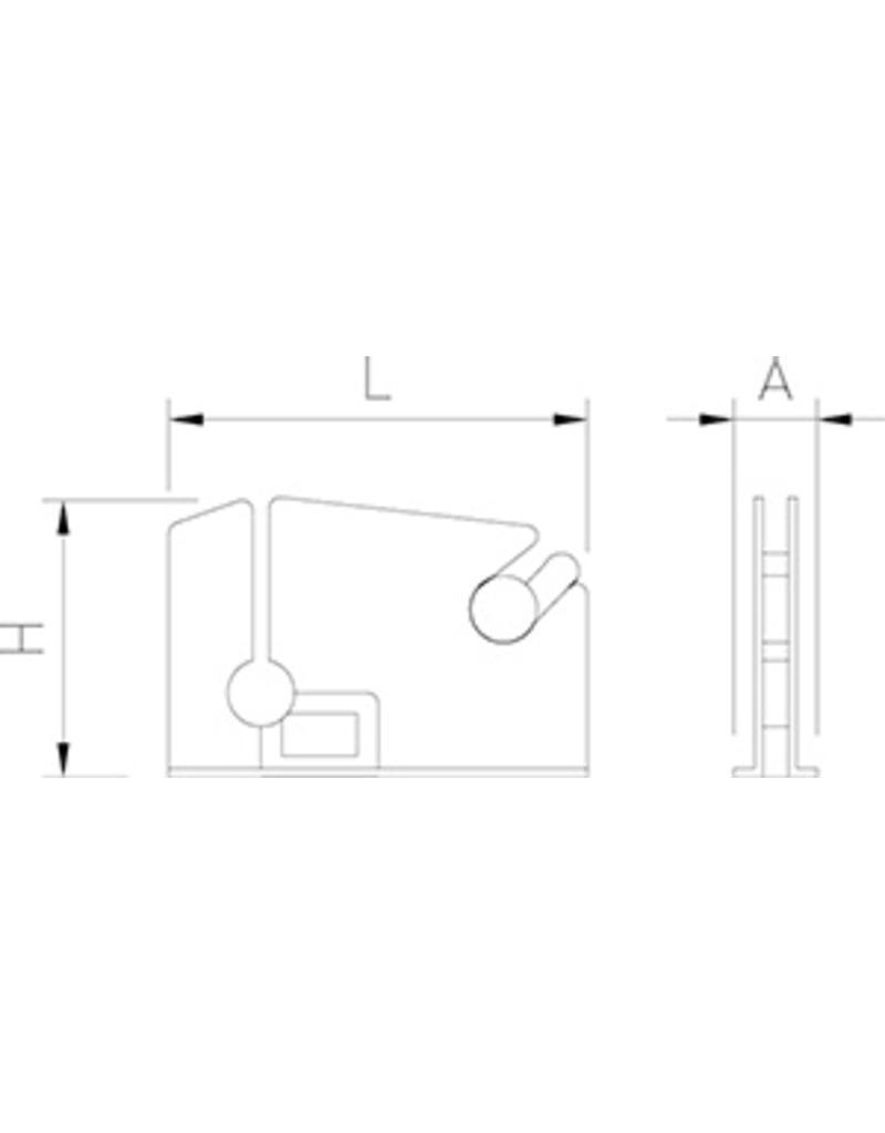 Zakkensluiter in roestvrij staal