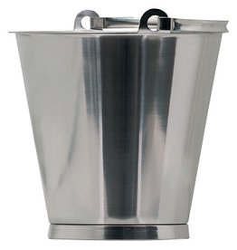 Bucket in stainless steel