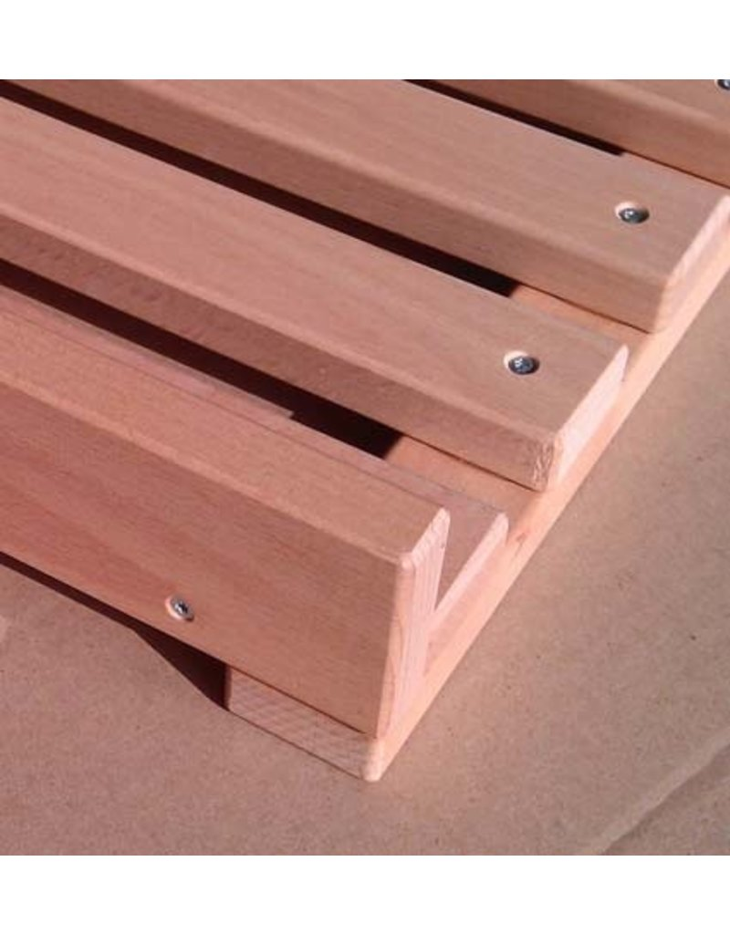 Beech wood grill for bread rack, with curb.