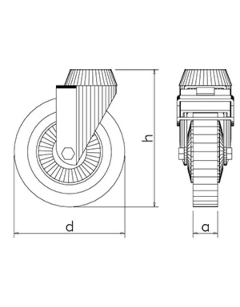 Wheel stainless steel / nylon