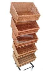 Black rack for baskets or plates