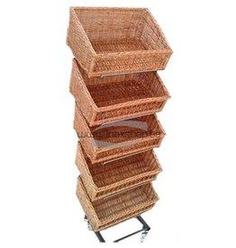 Rack for baskets black