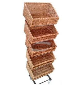 Rack for baskets in stainless steel