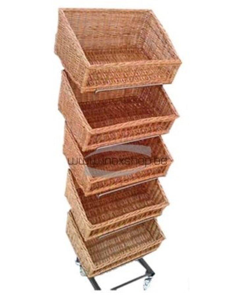 Inox rek voor manden of platen