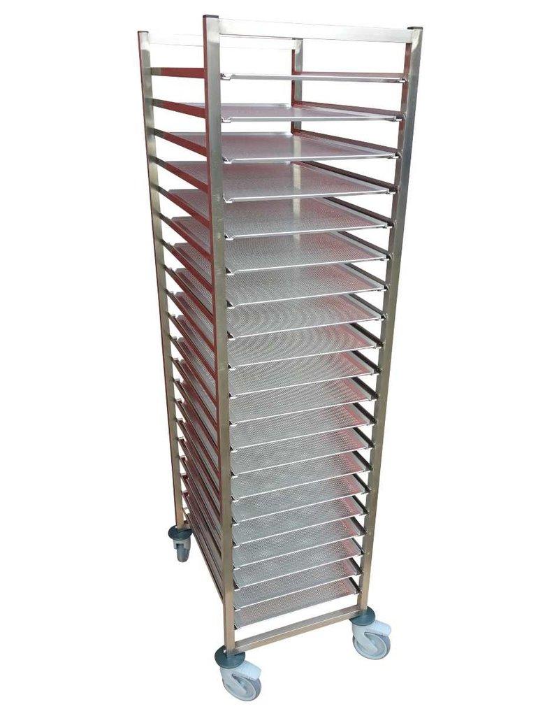 Plate rack regal trolley 400x600mm