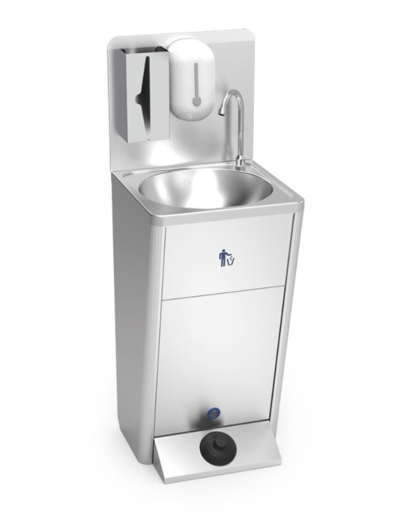 Fricosmos Mobiele wasbak met ingebouwde watertank spatplaat  (best verkochte model).
