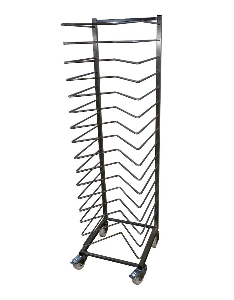 Plate rack with M bars