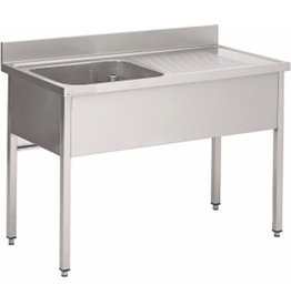 Washing-up basin 1 bowl of furniture 600mm depth