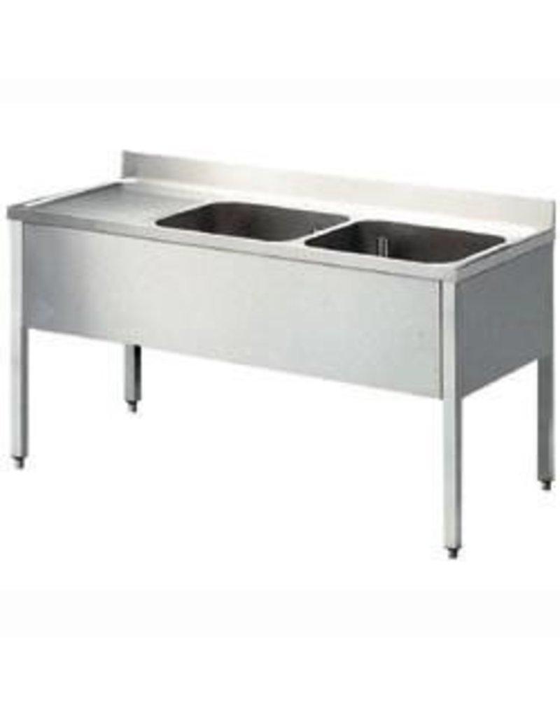 Afwasbak 2 bakken  meubel 600mm diepte