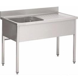 Washing-up basin 1 basin of furniture 700mm depth