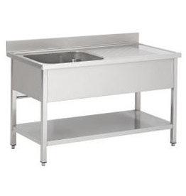 Afwasbak 1 bak  meubel 600mm diepte  onder tablet
