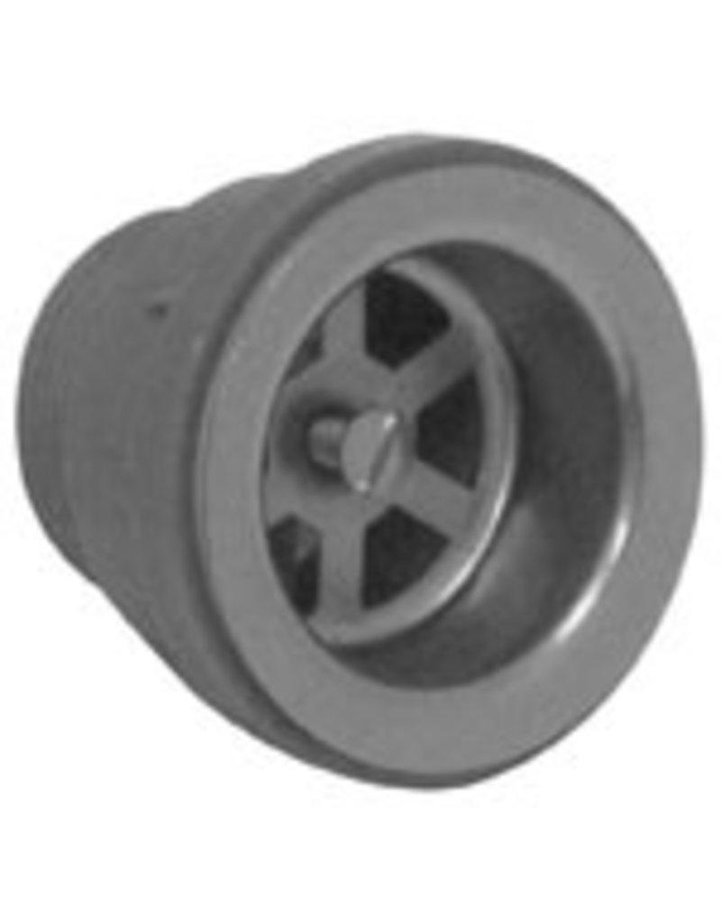 Afwasbak 600x700mm open onderstel op kast