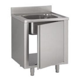 Dishbasin 600x700mm open on cupboard