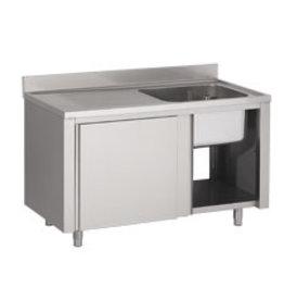 Afwasbak 1 bak  meubel 700mm diepte  op kast