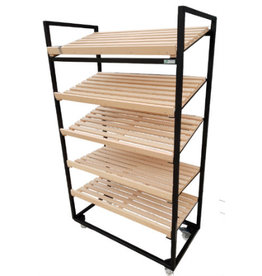 Bread rack black 3 oblique 2 flat