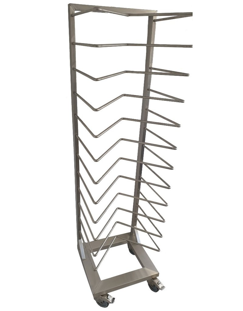 Plate rack with M bars, heavy-duty version