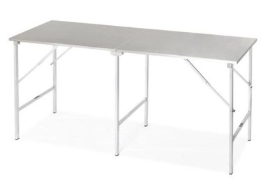 Folding stainless steel table standard