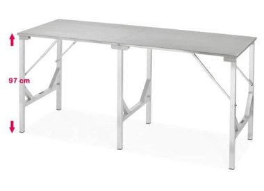 Folding stainless steel table extra high
