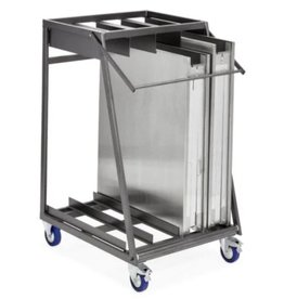 Trolley for 4 folding tables