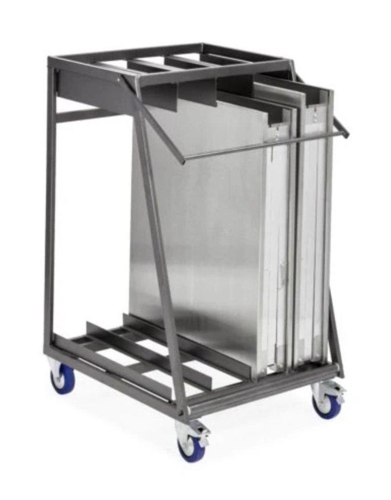 Trolley voor 4 opklapbare tafel