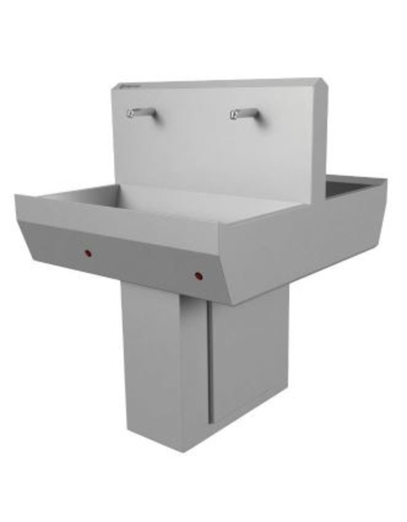 Hand wash gutter 2x 2 3 or 4 taps double