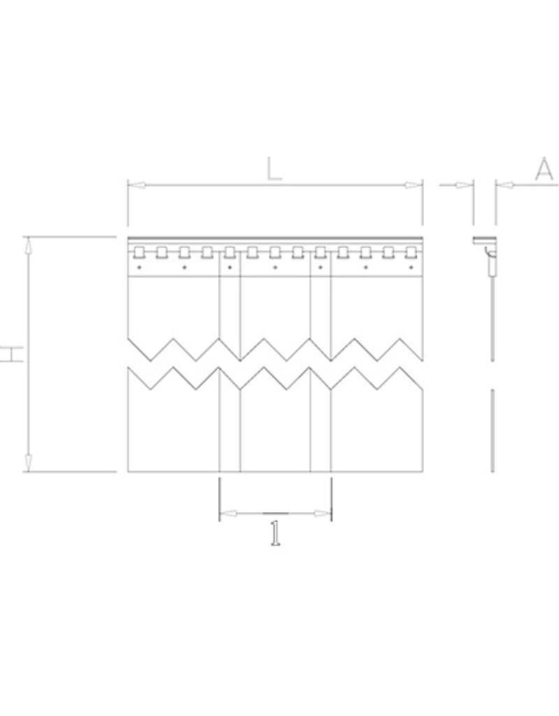 Gordijnlatten in PVC