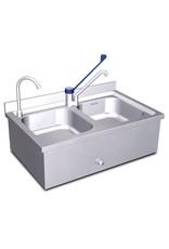 Handwasbak en spoeltafel set