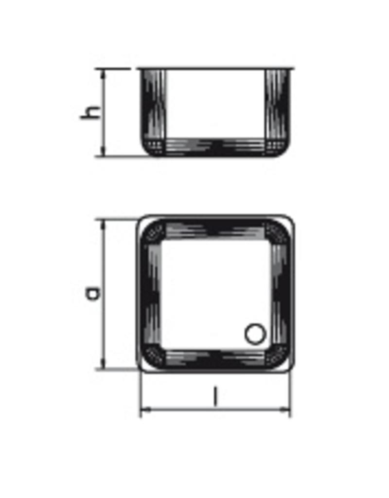 Dubbele spoelbak voor vaatwas, afdruipplaat links