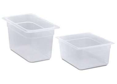 Gastronorm containers in polypropylene