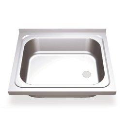 Sink with hinged doors